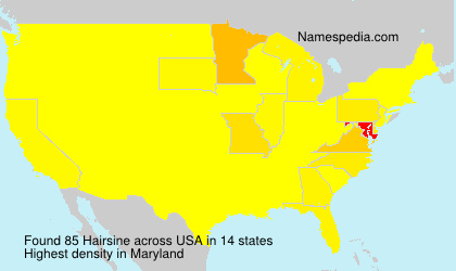 Surname Hairsine in USA