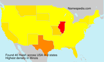 Surname Haish in USA