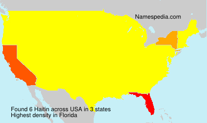 Surname Haitin in USA