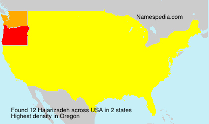 Surname Hajarizadeh in USA