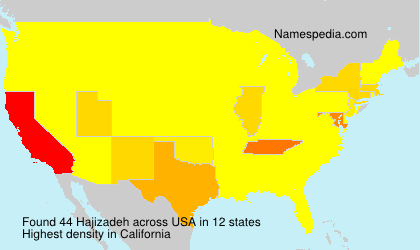 Surname Hajizadeh in USA