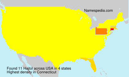 Surname Hajtol in USA