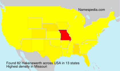 Surname Hakenewerth in USA