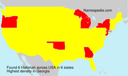 Surname Hakimah in USA