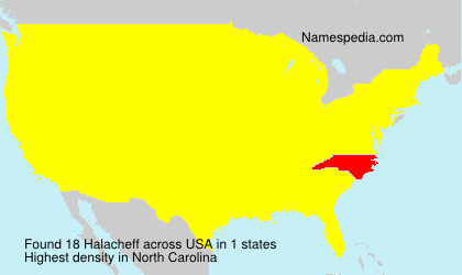 Surname Halacheff in USA