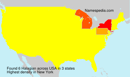 Surname Halagian in USA