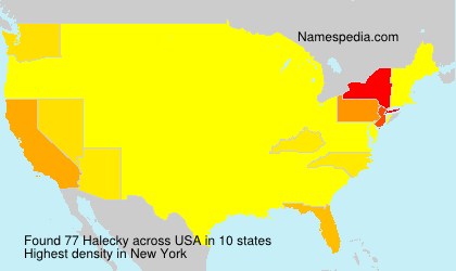 Surname Halecky in USA