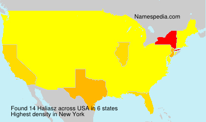 Surname Haliasz in USA