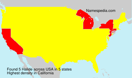 Surname Halide in USA