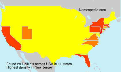 Surname Halkidis in USA