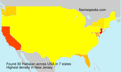 Surname Hallajian in USA