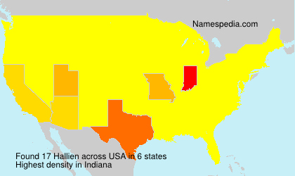 Surname Hallien in USA