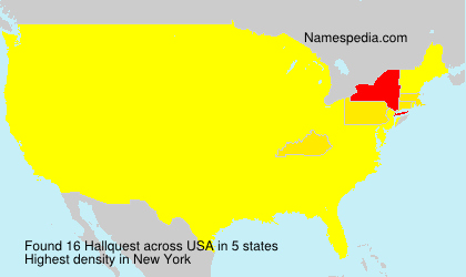 Surname Hallquest in USA