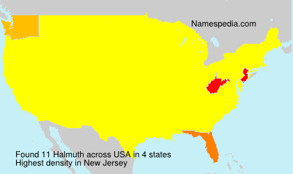 Surname Halmuth in USA