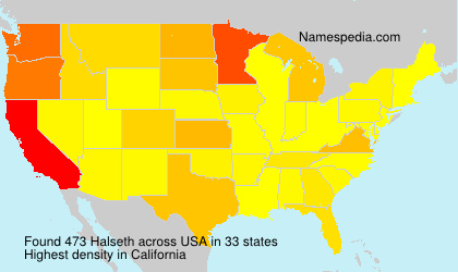 Surname Halseth in USA