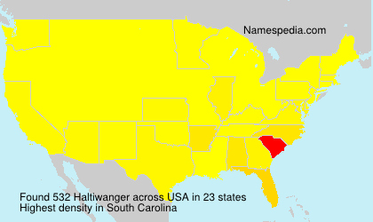 Surname Haltiwanger in USA