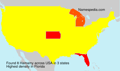 Surname Hamamy in USA