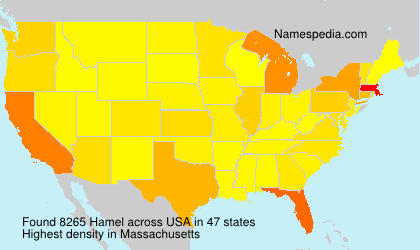 Surname Hamel in USA