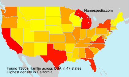 Surname Hamlin in USA