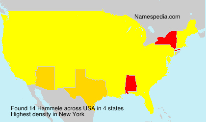 Surname Hammele in USA