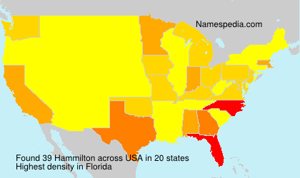 Surname Hammilton in USA