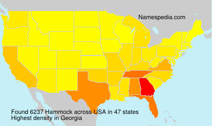 Surname Hammock in USA