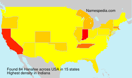 Surname Hanafee in USA