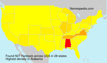 Surname Hanback in USA