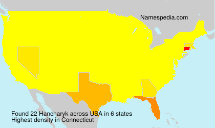 Surname Hancharyk in USA