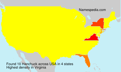 Surname Hanchuck in USA