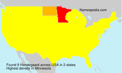 Surname Handegaard in USA