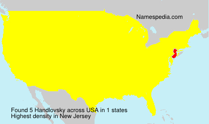 Surname Handlovsky in USA