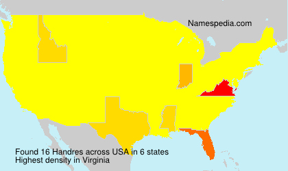 Surname Handres in USA