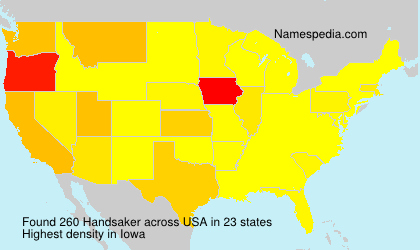 Surname Handsaker in USA
