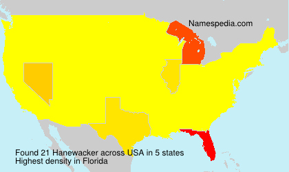 Surname Hanewacker in USA