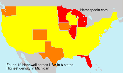 Surname Hanewall in USA