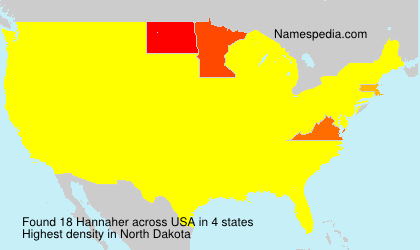 Surname Hannaher in USA