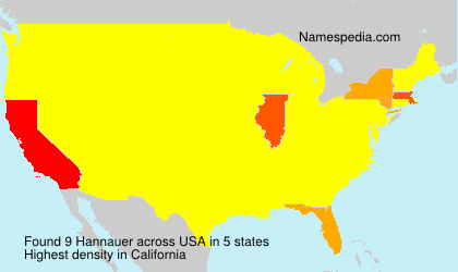 Surname Hannauer in USA