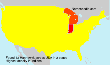 Surname Hannewyk in USA