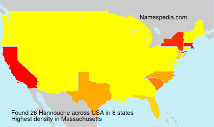 Surname Hannouche in USA