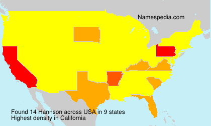 Surname Hannson in USA