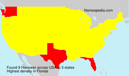 Surname Hanower in USA