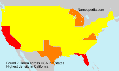 Surname Hanra in USA