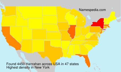 Surname Hanrahan in USA