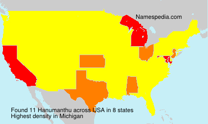 Surname Hanumanthu in USA