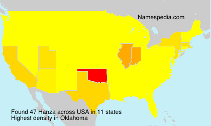 Surname Hanza in USA