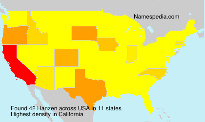 Surname Hanzen in USA