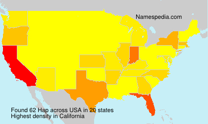 Surname Hap in USA