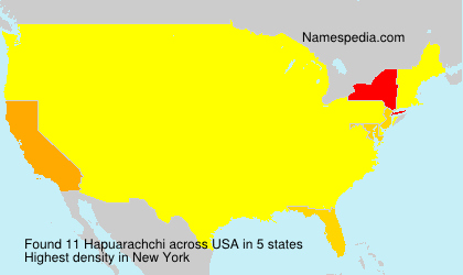 Surname Hapuarachchi in USA