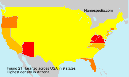 Surname Haranzo in USA